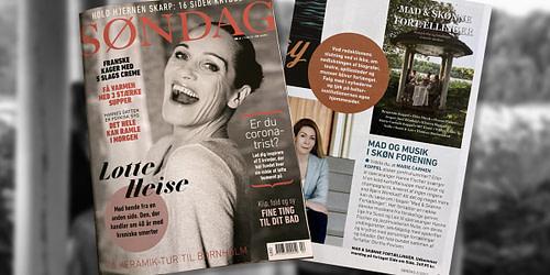 Mad & skønne fortællinger er i damebladet Søndag